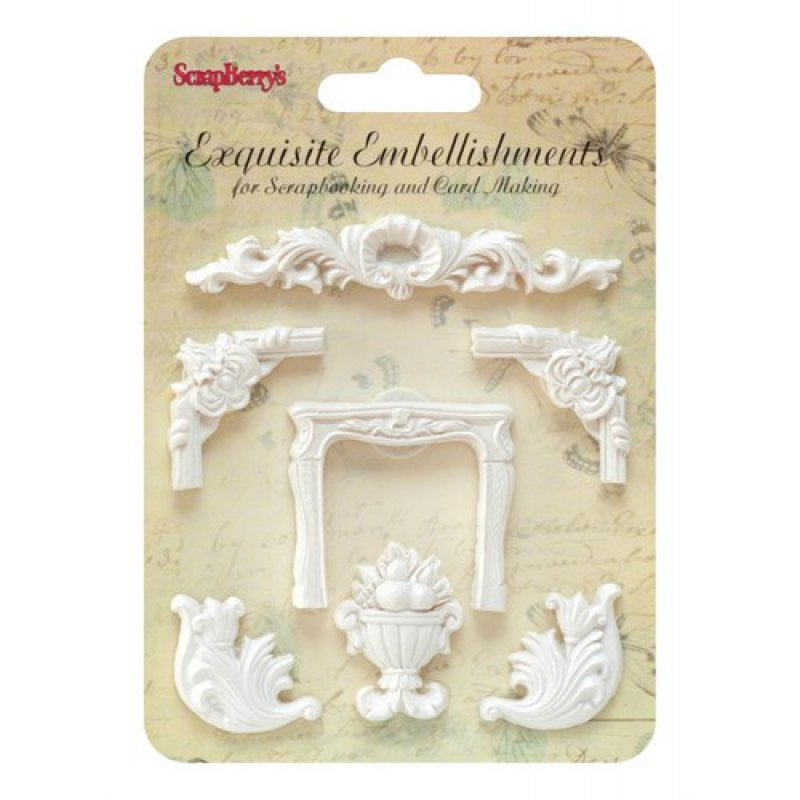 Embellishments Resin Kamin Stuck 3 80