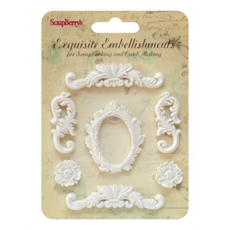 Embellishments Rahmen Ornamente Resin 3 80